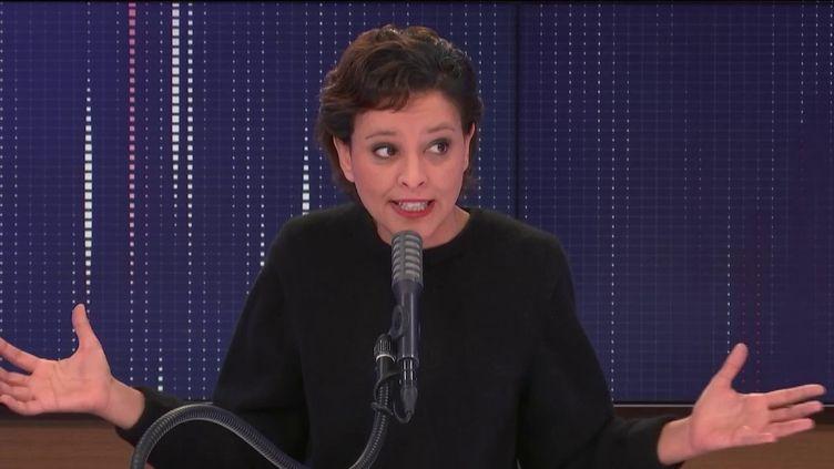 Najat Vallaud-Belkacem, invitée de franceinfo, le 16 janvier 2021. (FRANCEINFO / RADIO FRANCE)
