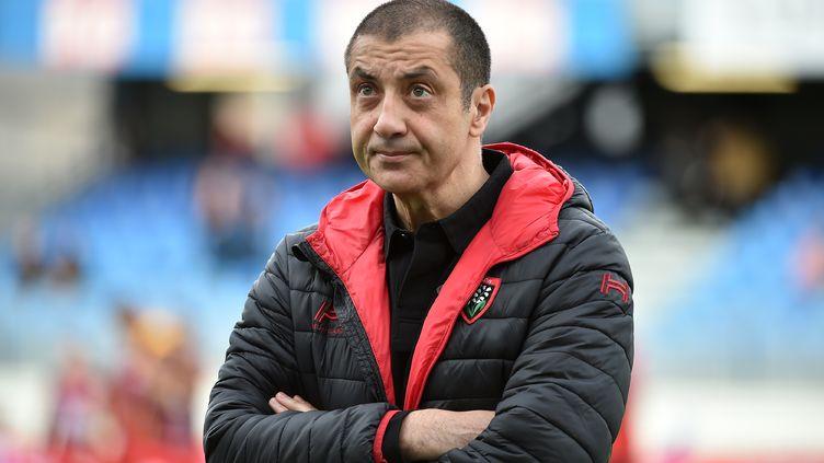 Le président du club de rugby de Toulon, Mourad Boudjellal, le 24 novembre 2017, lors d'un match de son club à Castres (Tarn). (REMY GABALDA / AFP)