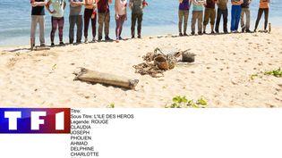 """Les candidats de """"Koh-Lanta, l'Ile des héros"""". (PHILIPPE LEROUX / ALP)"""