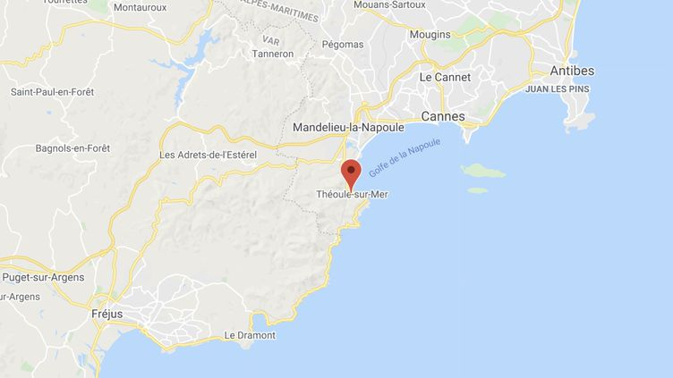 La maison jusqu'ici squattée se trouve à Théoule-sur-Mer (Alpes-Maritimes). (GOOGLE MAPS)