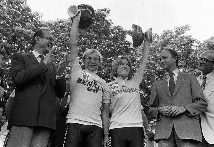 Laurent Fignonet Marianne Martin en 1984. (FILES)