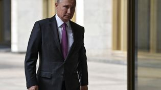Vladimir Poutine, le 9septembre 2018, à Moscou. (ALEXEY NIKOLSKY / SPUTNIK / AFP)