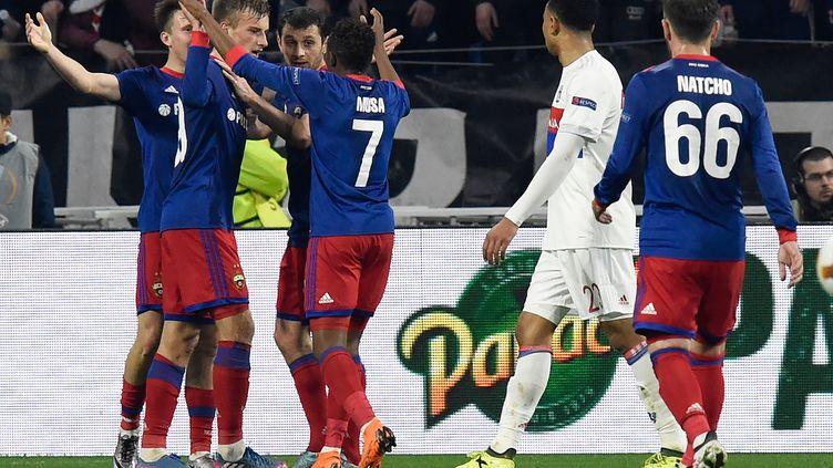 La joie des Russes après un but (JEAN-PHILIPPE KSIAZEK / AFP)