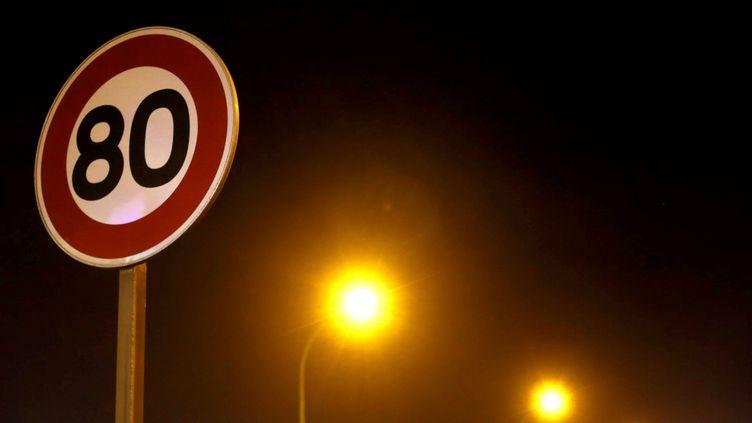 (Panneau vitesse limitée à 80 km/H - photo prétexte © Maxppp)