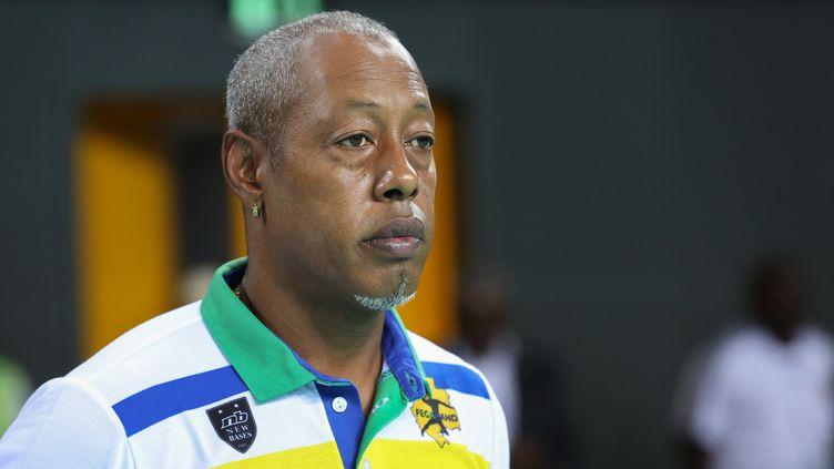 Jackson Richardson, alors coach del'équipe du Gabon dont il a été sélectionneur, à Libreville le 22 janvier 2018. (STEVE JORDAN / AFP)