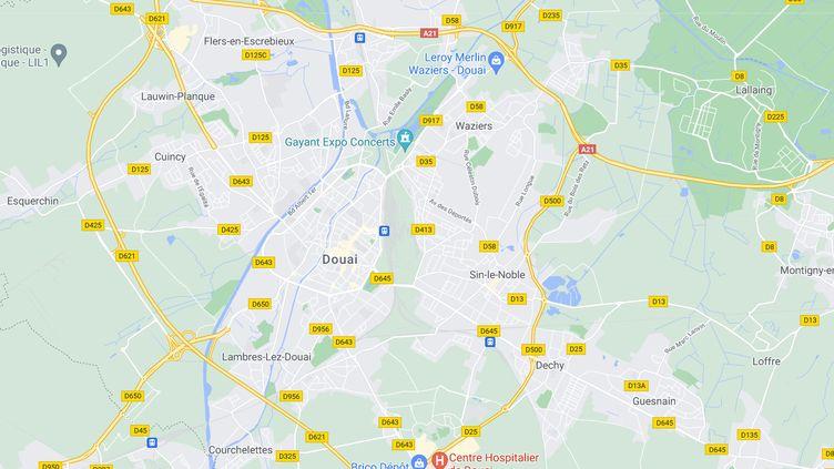 """Une femme de 33 ans est morte à Douai (Nord) dans la nuit du 30 mai au 31 mai 2021, """"de cause apparemment traumatique"""", selon le parquet. (GOOGLE MAPS)"""