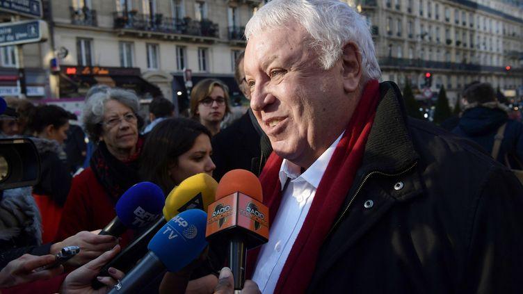 Gérard Filoche, membre du bureau national du parti socialiste et soutien de Benoît Hamon. (CHRISTOPHE ARCHAMBAULT / AFP)