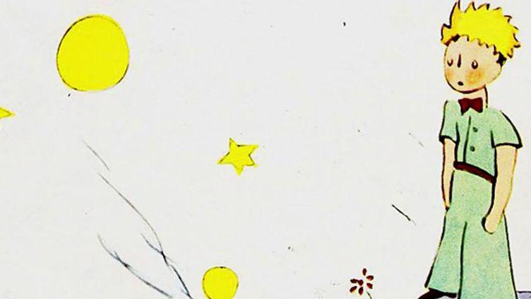 """Première de couverture du """"Petit prince"""" d'Antoine de Saint-Exupéry aux Editions Gallimard (détail). (Antoine de Saint-Exupéry / Gallimard)"""