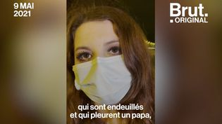 """VIDEO. """"J'ai peur qu'on me reconnaisse"""" : femme de policier, Perrine Sallé raconte les difficultés au quotidien (BRUT)"""