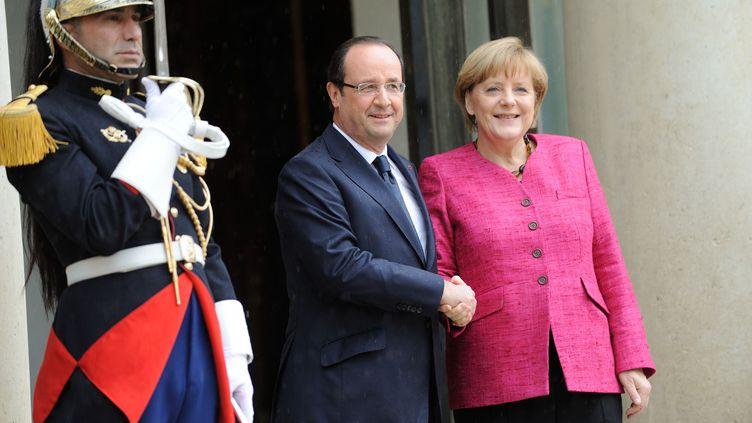 François Hollande et Angela Merkel à l'Elysee, Paris, le 30/05/2013 ( WITT / SIPA)