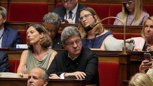 Jean-Luc Mélenchon de La Franceinsoumise n'a pas applaudi le discours du nouveau président de l'Assemblée nationale, le 27 juin 2017 (MAXPPP)
