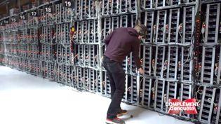 """Dans une mine de bitcoins avec """"Complément d'enquête"""" (FRANCE 2 / FRANCETV INFO)"""