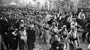 Le trajet du soldat inconnu jusqu'à la gare de Verdun, après le choix du corps par le caporal Thin. (©)