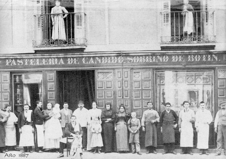 Une photo de l'équipe du restaurant prise en 1887. (RESTAURANT BOTÍN)