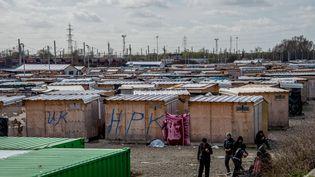 Le camp de Grande-Synthe (Nord), photographié le 21 mars 2017. (PHILIPPE HUGUEN / AFP)