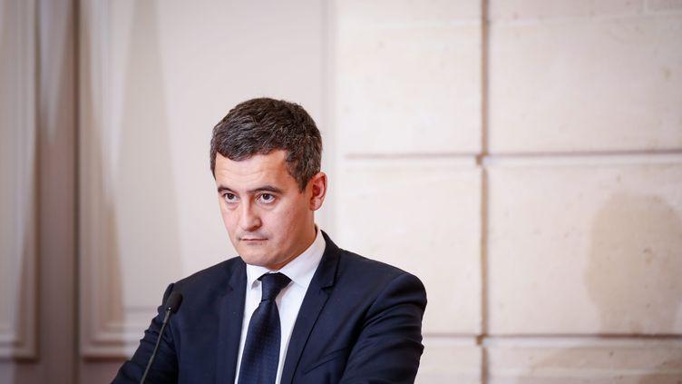 Le ministre Gérald Darmanin à l'issue du conseil des ministres à l'Elysée, le 27 novembre 2017. (MAXPPP)