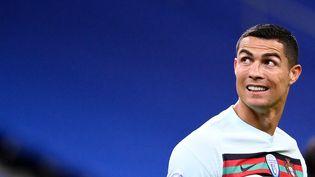 L'attaquant de l'équipe portugaisede football, Cristiano Ronaldo, lors d'un match contre la France, le 11 octobre 2020. (FRANCK FIFE / AFP)