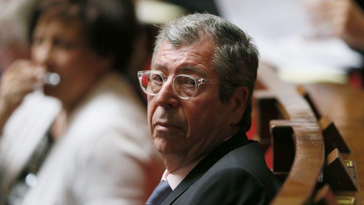 Le député Patrick Balkany à l'Assemblée nationale, à Paris, le 23 juin 2015. (PATRICK KOVARIK / AFP)