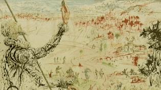 """""""Don Quichotte"""", illustration de Salvador Dali, l'une des oeuvres méconnues exposées à Castres.  (France 3 / Collection Salvador Dali)"""