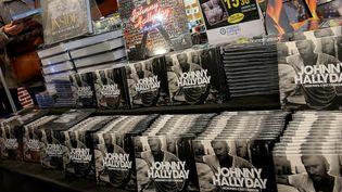 L'album posthume de Johnny Hallyday en vente dans un supermarché Leclerc à Reims (19 octobre 2018)  (François Nascimbeni / AFP)