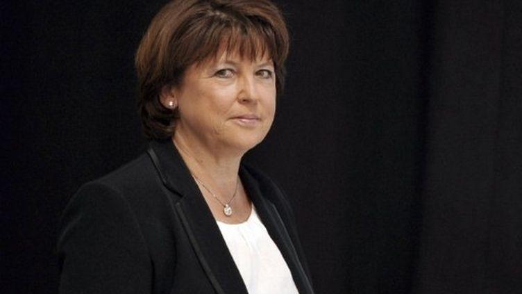 """Martine Aubry a déposé mercredi matin sa candidature à la """"Haute Autorité des primaires citoyennes"""". (AFP - Philippe Huguen)"""