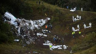 Le crash d'un avion près de La Union, en Colombie, a fait 71 morts le 29 novembre 2016. (RAUL ARBOLEDA / AFP)