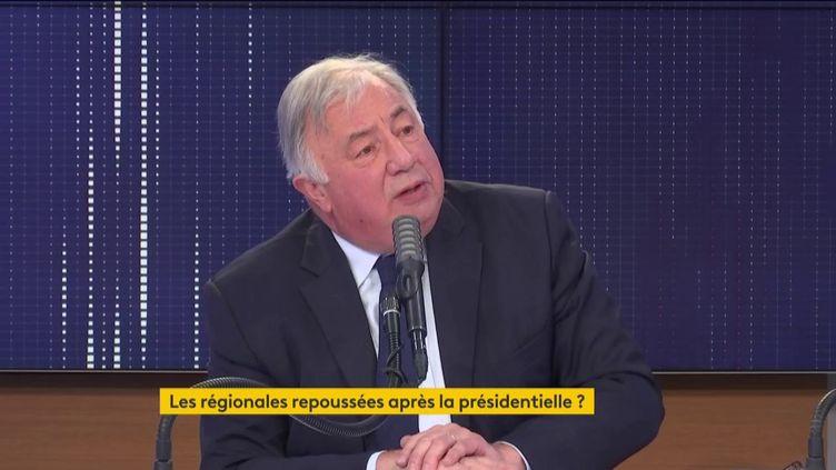 """Gérard Larcher, président LR du Sénat, était l'invité du """"8h30 franceinfo"""" le 21 janvier 2021. (FRANCEINFO / RADIOFRANCE)"""
