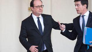 François Hollande et Manuel Valls à l'Elysée, le 10 février 2016. (NIVIERE / SIPA)