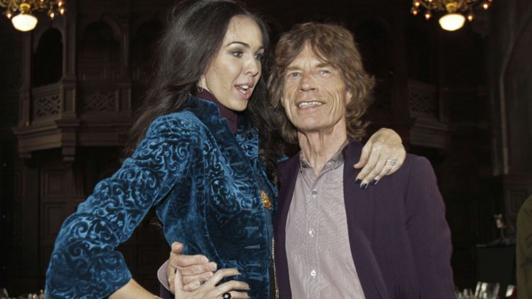 Mick Jagger et sa compagne L'Wren Scott en 2012, à la Fashion Week de New York  (Richard Drew/AP/SIPA )
