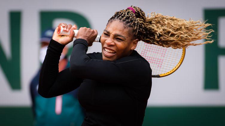 Serena Williams lors du premier tour de Roland-Garros. (ROB PRANGE / SPAINDPPI)