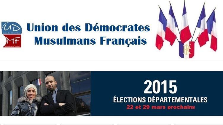 Capture d'écran du site de l'Union des démocrates musulmans français. (UNION DES DÉMOCRATES MUSULMANS FRANÇAIS)
