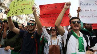 Manifestation d'étudiants contre la tenue de l'élection présidentielle. Alger, le 17 septembre 2019. (BILLAL BENSALEM / NURPHOTO)
