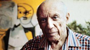 Pablo Picasso à Mougins (Alpes-Maritimes) le 13 octobre 1971 (RALPH GATTI / AFP)
