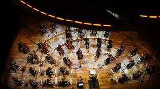 """""""Novembre en mon âme"""", de Bechara El-Khoury. Concert d'hommage aux victimes des attentats du 13 novembre, par l'Orchestre de chambre de Paris. (CHARLES D'HEROUVILLE/PHILHARMONIE DE PARIS)"""