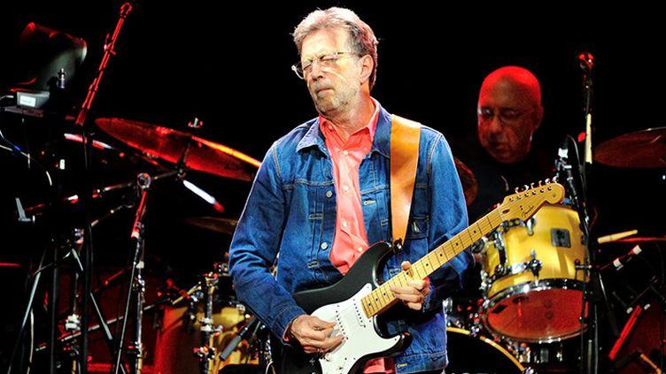 Eric Clapton en concert en Allemagne, juin 2014  (AFP)