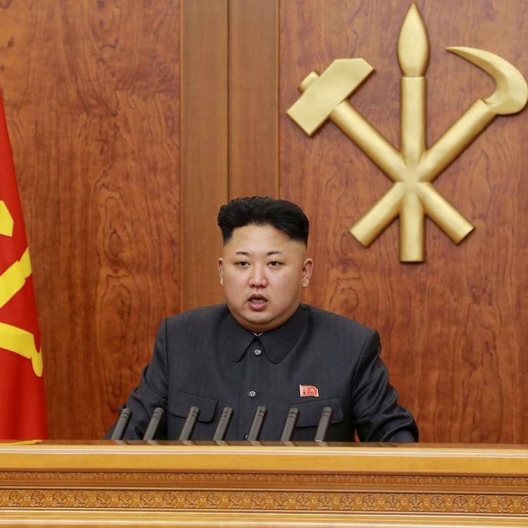 Le dirigeant nord-coréen, Kim Jong-un, présente ses vœux, le 1er janvier 2014 à Pyongyang (Corée du Nord). (AFP PHOTO/KCNA VIA KNS)