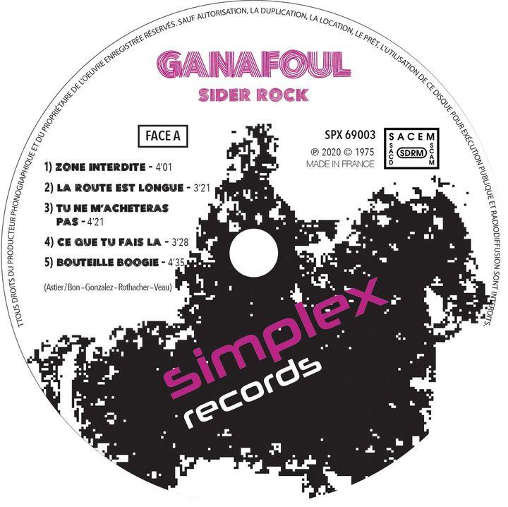"Ganafoul : vinyle ""Sider Rock"" (Simplex Records)"