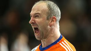 Thierry Omeyer, gardien de l'équipe de France de handball, à l'issue de la demi-finale du Mondial France-Espagne, le 30 janvier 2015. (SAMPICS / CORBIS SPORT)