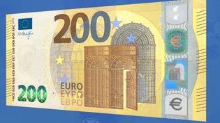 Le nouveau billet de 200 euros. (BANQUE CENTRALE EUROPEENNE)