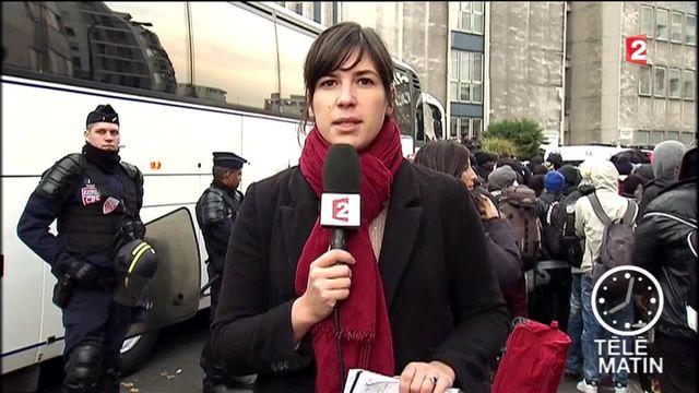 Évacuation en cours du campement de migrants à Paris