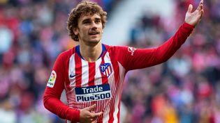 Antoine Griezmann sous les couleursde l'Atlético Madriden janvier 2019. (RODRIGO JIMENEZ / EFE)