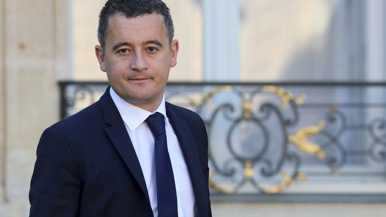 """""""Je suis très fier d'être le ministre qui porte"""" la réforme fiscale du prélèvement à la source, déclare le ministre Gérald Darmanin (14 novembre 2018). (LUDOVIC MARIN / AFP)"""