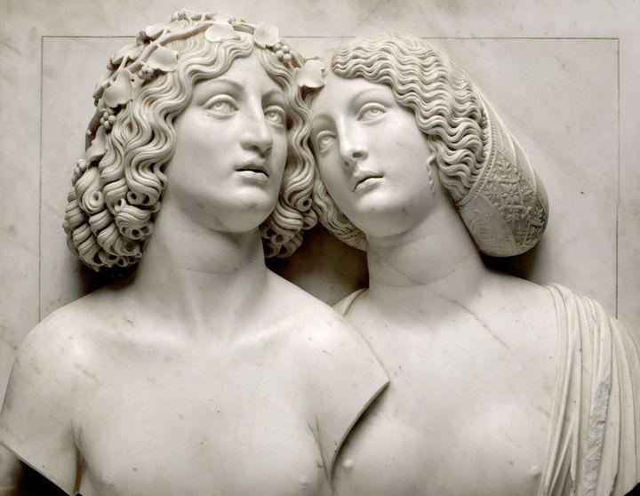 """Tullio Lombardo, """"Bacchus et Ariane"""", vers 1505-1510, Kunsthistorisches Museum  (© Kunsthistorischesmuseum. Vienne)"""