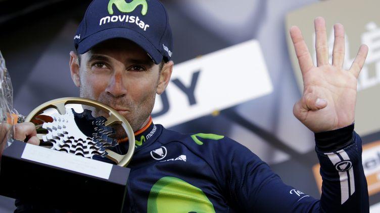 Alejandro Valverde détient le record de victoires sur la Flèche Wallonne. (KENZO TRIBOUILLARD / AFP)