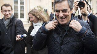 François Fillon a voté à Paris pour le premier tour de la primaire à droite, le 20 novembre 2016. (MARTIN BUREAU / AFP)