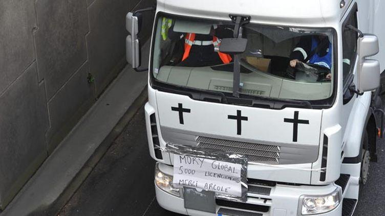 (A Nantes une manifestation de salariés de MoryGlobal, qui ne croient plus à la survie de l'entreprise © MaxPPP)
