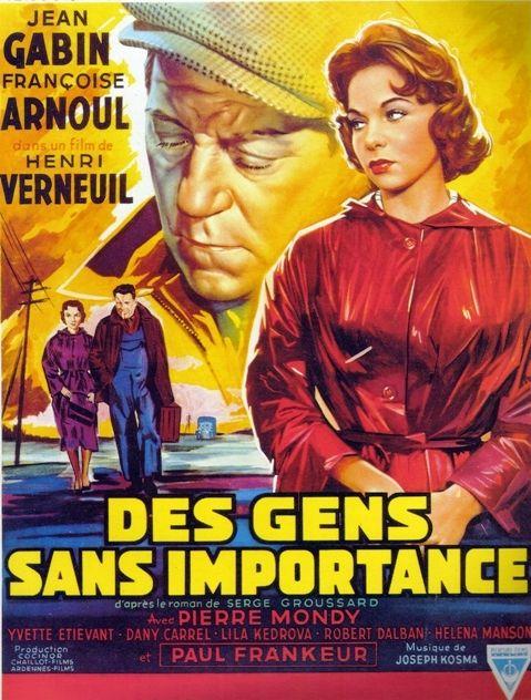 """Affiche du film """"Des gens sans importance"""" 1955  (DR)"""