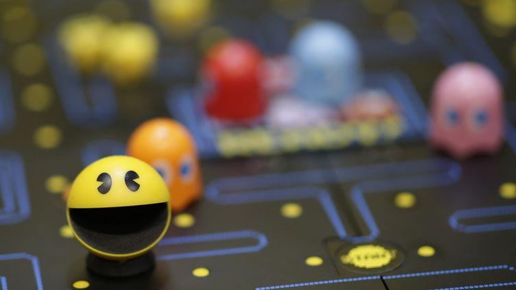 Le personnage de Pac-Man sur un salon du jouet à New York (Etats-Unis), le 22 février 2020. (MAXPPP)