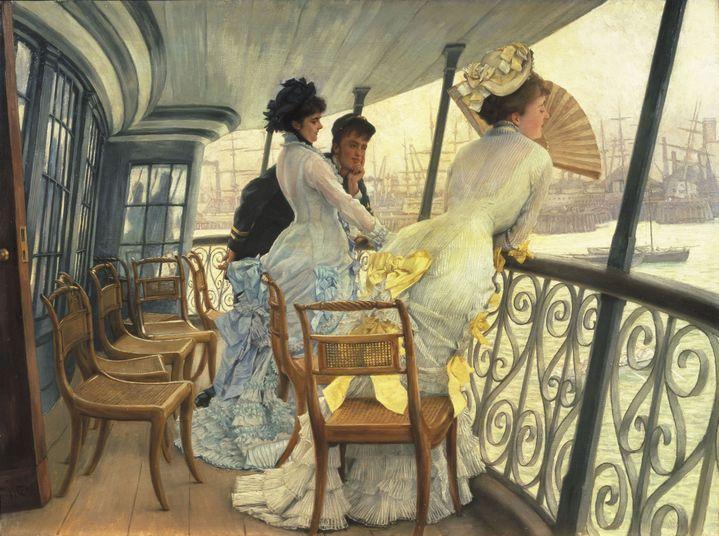 "James Tissot, ""La galerie du HMS Calcutta (Portsmouth)"", vers 1876, Royaume-Uni, Londres, Tate Collection (© Tate, Londres, Dist. RMN-Grand Palais / Tate Photography)"