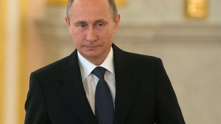 Vladimir Poutine, le 28 mai 2015, à Moscou en Russie. (SERGEY GUNEEV / RIA NOVOSTI)